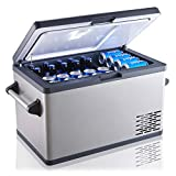 Ausranvik 37 Quart Portable Fridge for Car Freezer, 12/24V DC 110V AC, -4F degree, Compressor Touch Screen for Vehicle Truck RV Camping Travel Fishing Outdoor Driving