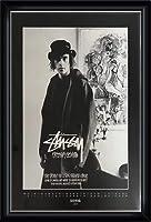 ポスター ステューシー ステューシー20th Anniversary プリント11 額装品 ウッドハイグレードフレーム(ブラック)