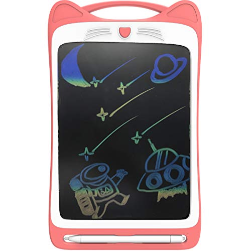 CYBERNOVA Tavoletta da scrittura LCD colorata da 12 pollici, tavoletta grafica portatile con tavoletta grafica per scrittura a mano con interruttore di blocco (batteria incorporata) (rosa)