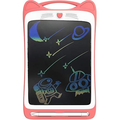 CYBERNOVA - Tableta de Escritura LCD Colorida de 12 Pulgadas, Tableta electrónica Doodle Pad eWriter Tableta gráfica con Interruptor de Bloqueo Tableta de Dibujo (batería incorporada 1) (Rosa)