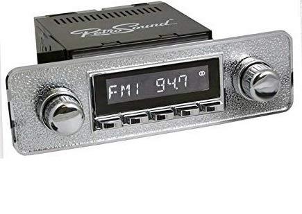 RETROSOUND RSD-Silver San Diego DAB+ Komplett-Set Silver mit Zubehör Autoradio für Oldtimer und US-Cars