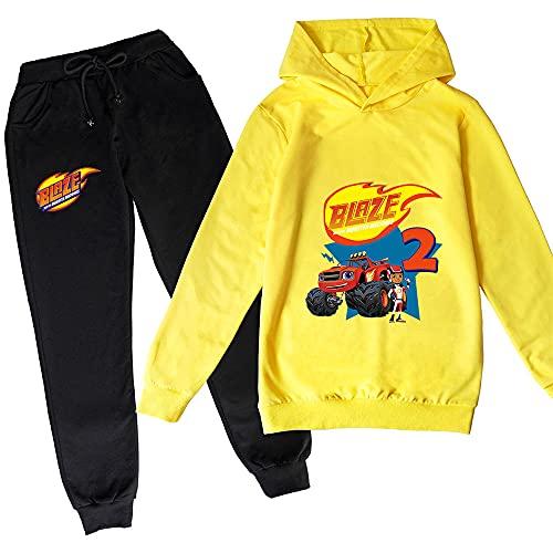 Proxiceen Flamme & Monster Machine - Sudadera con capucha para niño y niña A1. 120 cm