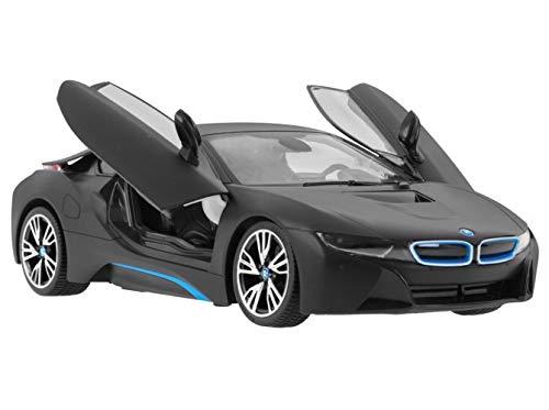 COIL BMW Modell Auto i8 FERNGESTEUERTS für Jungen (Weiss und SCHWARZ) (Schwarze BMW C0291-BLACK)