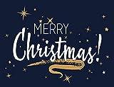 Kit de numeración de pintura de diamante 5D DIY Feliz Navidad caligrafía con estrellas brillantes 35,5 x 50,8 cm, adecuado para niños adultos bordado de diamantes completos manualidades