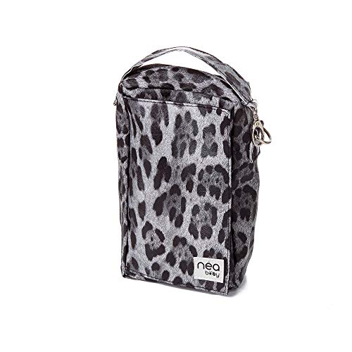 On The Go Baby Wipes Dispenser; Vegan Leather Diaper Clutch and Baby Wipes Case; Waterproof; Holds Multiple Newborn Necessities and Kids Travel Essentials- Black Leopard