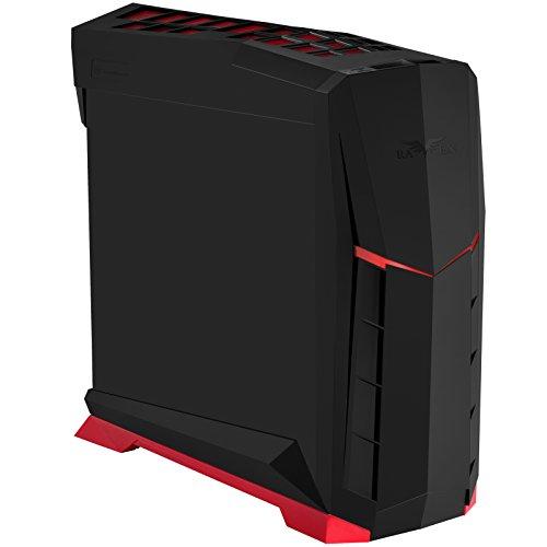 SilverStone SST-RVX01BR - Raven Midi Tower ATX Carcasa de Ordenador, Rendimiento silencioso con Alto Flujo de Aire, Negro Rojo