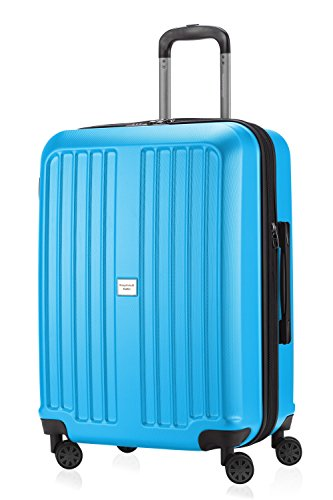 HAUPTSTADTKOFFER - X-Berg – Koffer Trolley Hartschale, TSA, 65 cm, 89 Liter, Cyanblau