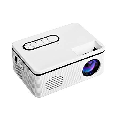 Gycdwjh Miniprojektor,Full HD 1080p Videoprojektor Heimkino-Theater Beamer für Heimkino Geschäftspräsentation,Weiß