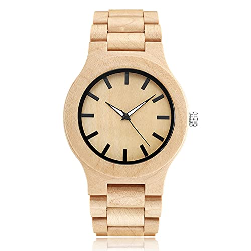 Wood Watch Men Wooden Case Band Wristwatch Male Vintage Brown Color Wrist Watches MenWoodWatch3