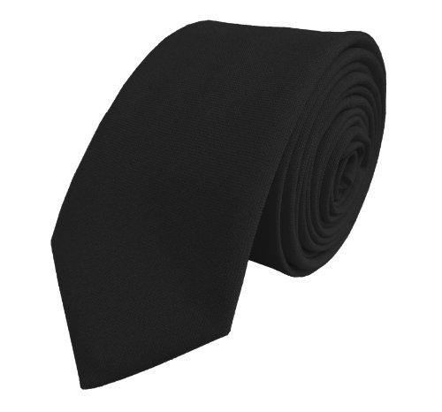 Plaine Noir Cravate des Hommes: Funérailles (Noir Cravate Slim)