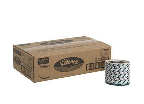 Kleenex Kosmetiktücher 8826 – Ovale Box mit 3-lagigen Kosmetiktüchern – 10Kosmetiktuchboxen x64 Papiertücher (insges. 640)