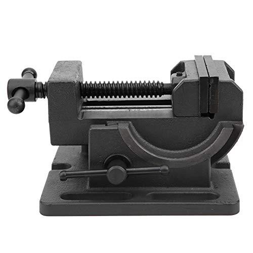 Tornillo de banco – giratorio 0 – 90 ° – Tamaño de apertura de 3 pulgadas – Mordazas de acero de alta calidad – Tornillo de banco con escala de precisión/tornillo macizo de hierro fundido