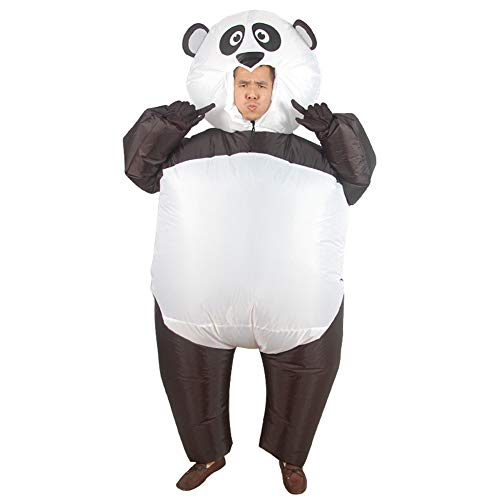 Disfraz de panda inflable para adolescente adulto Disfraz de panda gigante para Halloween 150-190cm