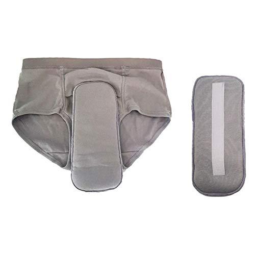Incontinentie ondergoed Panty voor mannen, wasbaar en herbruikbaar ondergoed voor lichte lekkage, tiener/volwassenen katoenen luiers