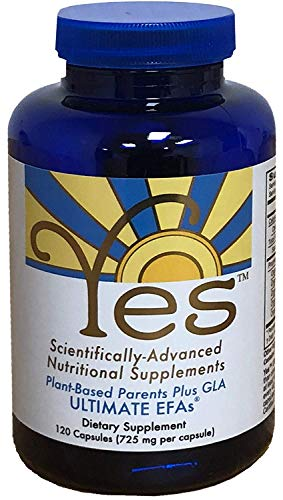Yes Parent Essential Oils ULTIMATE EFAs 120 Capsules, Based On The Peskin Protocol, Plant Based Organic Ingredients, Omega 3 6, Vegetarian So No Fishy Aftertaste, Keto Friendly.