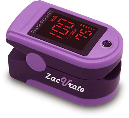 Zacurate Pro Series 500DL Fingertip Pulse Oximeter Blood Oxygen...