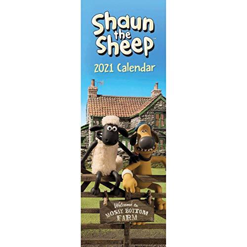 Shaun the Sheep Slim Calendar 2021
