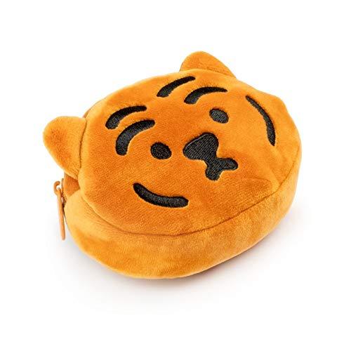 【MUZIK TIGER】 日本初上陸! でぶトラ トゥンランイキーリングポーチ トラ シンプル かわいい さらさら 韓国雑貨 収納ポーチ 化粧ポーチ 小物入れ トラベルポーチ アクセサリーケース 出張 旅行