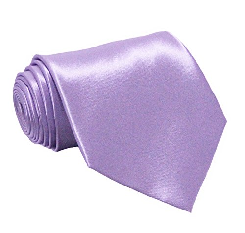 Soophen NEW Mens Necktie SOLID Satin Neck Tie Lavender