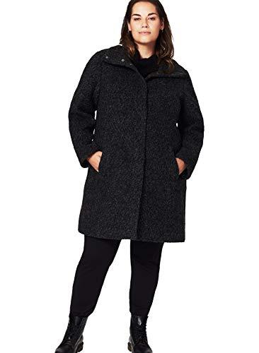 Zizzi Damen Mantel Jacke Lange Warmer Wollmantel, Große Größen 42-56