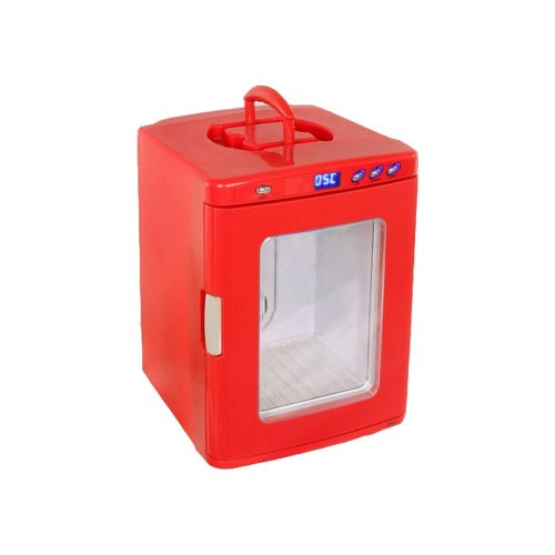 BP 25L 20 Bottle Mini Refrigerator Cooler Warmer Compact Portable Fridge for Home Nursery Office Bedroom Car or Boat AC & DCRED