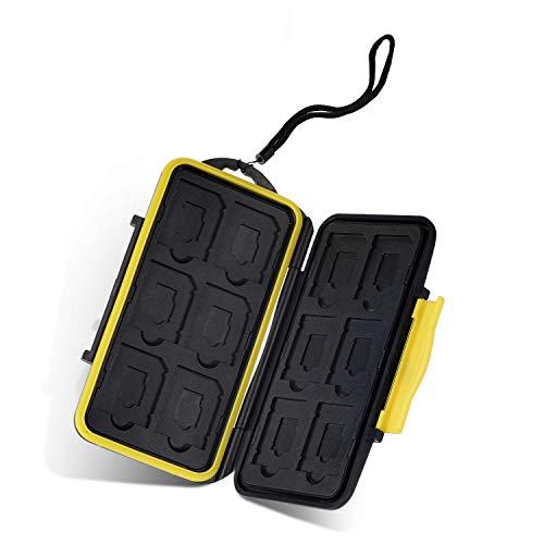 moinkerin Custodia SD Card Porta SD Card Scatola di Protezione per Schede per Schede SD, Schede Micro SD, SD SDHC SDXC