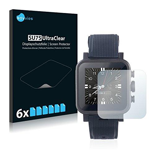 Savvies 6X Schutzfolie kompatibel mit Simvalley Mobile AW-420.RX Bildschirmschutz-Folie Ultra-transparent