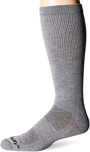 Dr. Scholl's Men's Work Compression 1 Pack Sock, Grey, Shoe Size 7-12