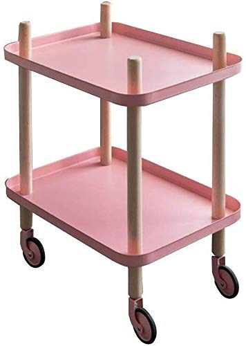 Relaxbx Trolley opbergplank, multifunctionele metalen kinderwagen rek voor thuis woonkamer salontafel slaapkamer keuken opslag trolley opslag plank (kleur: B)