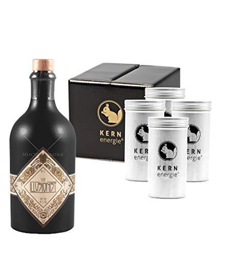 The Illusionist Gin Geschenkset   The Illusionist Dry Gin mit Heidelbeeren und Premium Nüssen von KERNenergie als edles Gin Geschenk