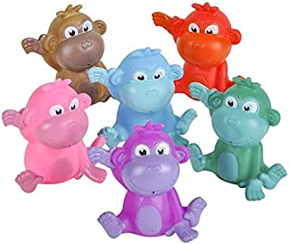 Rhode Island Novelty 2 Inch Rubber Water Squirting Monkeys Set of 12