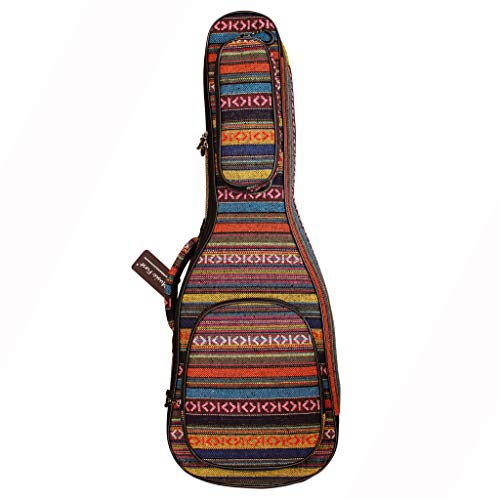 MUSIC FIRST Original Design 0,6 Zoll (15mm) dick Landhausstil Guitalele, Mini-Gitarre, Reisegitarre Kasten, Gitarrentasche, Gitarren-Softcase. Passt für 30 ~ 31 Zoll Guitalele
