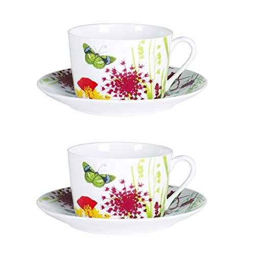 Table Passion - coffret 2 tasses/sous tasses dejeuner tutti fiori
