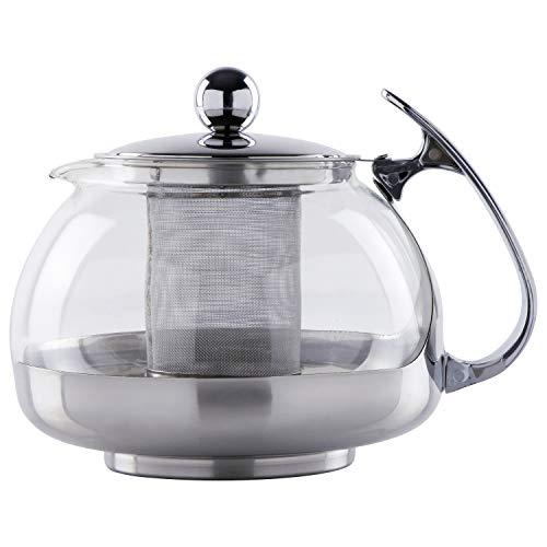 TRINKBASIS Teekanne 1,2 Liter inklusive Teesieb - für die Zubereitung von 10-12 Tassen Tee
