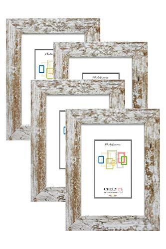 Chely Intermarket, Marcos de Fotos 15x20cm MOD-204 (Vintage) (Pack 4uds) Estilo Galeria | Marcos para decoración de casa, fotografías de Boda, Fotos de paisajes, listado de Precios (204-15x20*4-0,35)