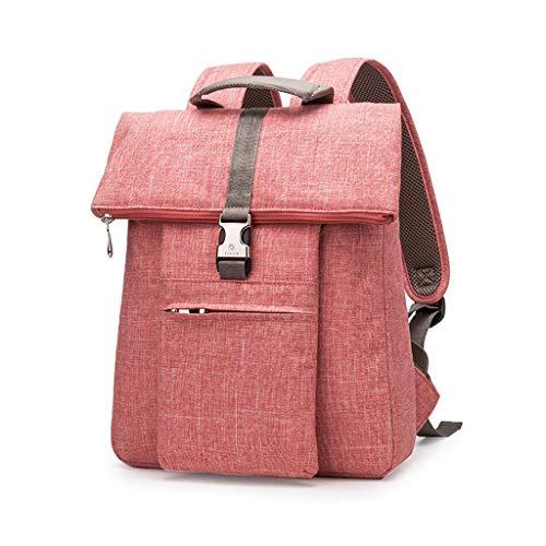 "FH 出張バックパック、大容量のコンピュータバックパック、学生のファッションの防水と耐震性のコンピュータバッグ、ほとんどのラップトップに適して (Color : Watermelon red, Size : 15.4"")"