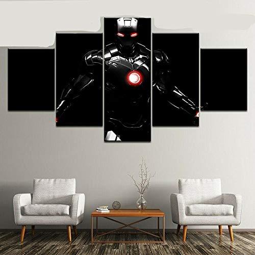 JJJKK 5 Pieza Cuadro sobre Lienzo IRO Ma Vengadores Supervilli Enmarcado y Listo para Colgar Moderno Decoracion de Pared Abstractos Impresión Artística