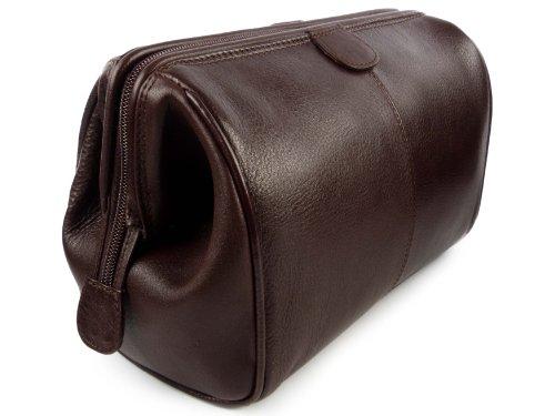 Mala Herren-Kulturbeutel, Top-Qualität, Leder, Verve-Kollektion, in schwarz oder braun erhältlich Braun braun
