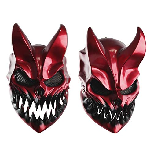 Slaughter To Prevail Mask Kid of Darkness Demolisher Mask Creepy Demon Mask for Halloween Cosplay Prop Resin.