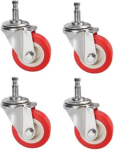 2 Pulgadas de Peso Ligero Ruedas giratorias, reemplazo de 4 Piezas en Silla de Oficina Caster Set, Suelo Protector, por Pisos Duros y el estándar de la Alfombra
