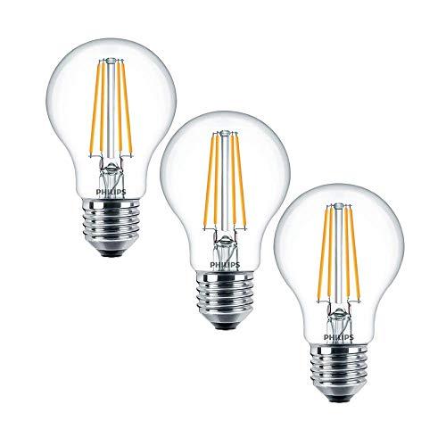 Philips Classic LEDbulb 7 Watt A60 E27 827 warmweiß extra 3er Multipack