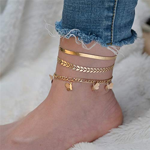 Jewellery Bracelets Bangle For Womens Anklets For Women Girls Color Beads Sequin Charm Adjustable Ankle Bracelets Set Boho Multilayer Beach Foot Jewelry 60137