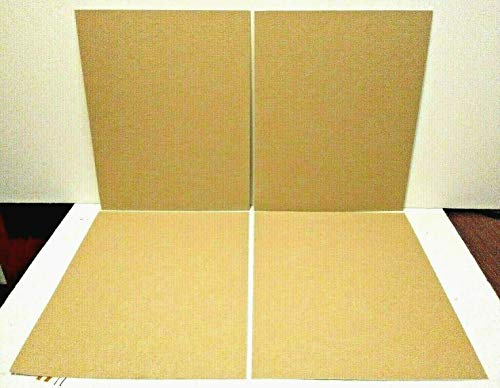 16 x 20 PACK of 4 PRECUT FABRIC ACID FREE MAT BOARD CRESCENT ROYAL MOORMAN LINEN