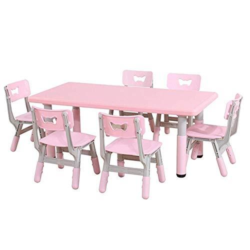 Kinder Schreibtisch Kinder Kinder Tisch und Stuhl Set, Einstellbare Höhe rechteckig Aktivität Tisch, Kindergarten, Wohnhaus, Tag Stabiler Tisch, Kleinkinder Esstisch Spieltisch Kinder Studie Tisch und