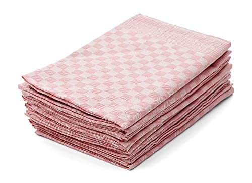 Hometex Premium Textiles 10er Set Zwirn Geschirrtücher | Grubentücher in extra Dicker Qualität - 220 g/m² | 100{7172b1d02e977f31ac8791a0f3f4c53594736a34882c8bca59b88748cc2a742a} Baumwolle sehr saugfähig | ÖKO-TEX 100 Standard | 50 x 70cm Rosé