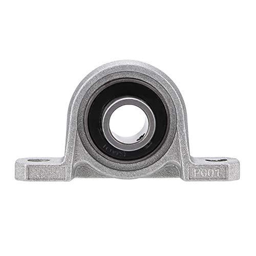 Mugast 12 mm Rodamiento de Almohadilla Autoalineable para montaje en bloque fundido, cojinetes de cojinete de cojinete Brida calibre Autoajuste automático Soporte montado en el centro