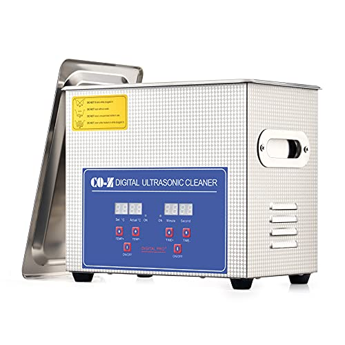 CO-Z 3L Professional Ultrasonic Cleaner with Digital Timer&Heater for Jewelry Glasses Watch Dentures Small Parts Circuit Board Dental Instrument,...