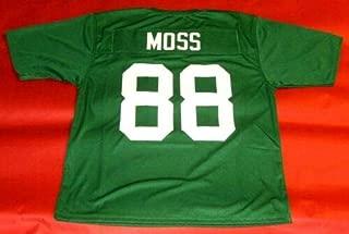 RANDY MOSS GREEN MARSHALL CUSTOM STITCHED NEW FOOTBALL JERSEY MEN'S XL