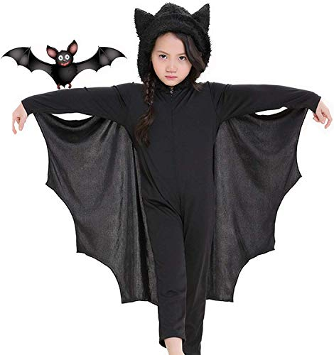 Seawhisper Fledermausflügel Jungen Vampirkostüm Kinder Dracula Halloweenkostüm Helloween Helowin Kleinkind Umhang Vampirumhang 110 116 122 128 134 140 146 152