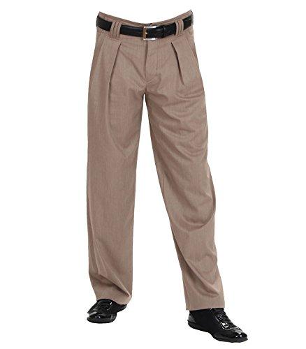 H K Mandel Dunkelbeige melierte Herren Stoffhose Modell Boogie Model Boogie, Material 56% Viscose 42% Polyester 2% Elasthan, Farbe Beige meliert, Größe 60